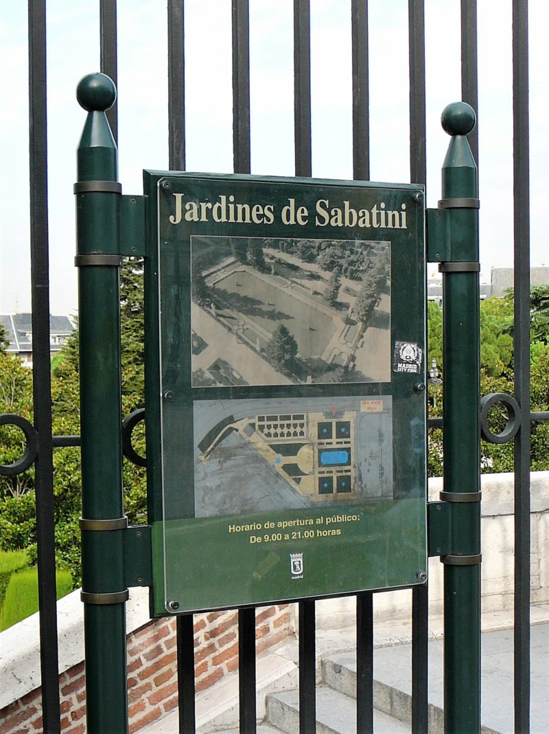 Jardines de Sabatine, Madrid