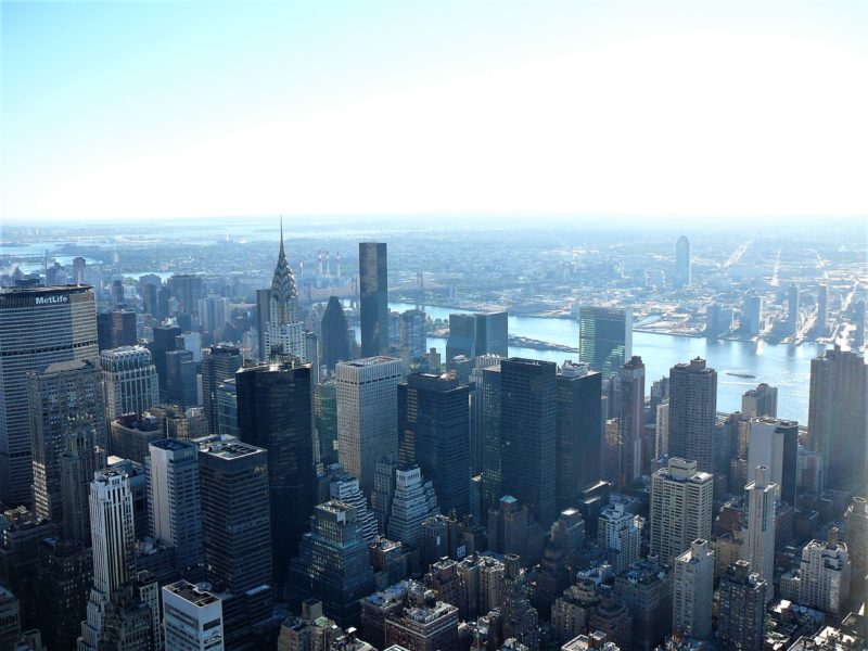 New York minimoon Views from Empire State Building