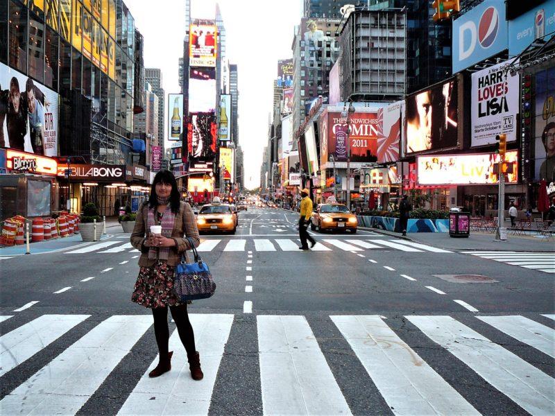 New York minimoon Times Square