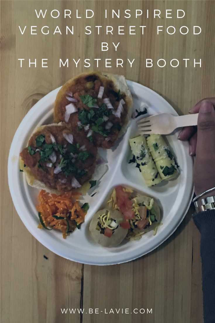 World inspired vegan food by The Mystery Booth Pinterest Pin