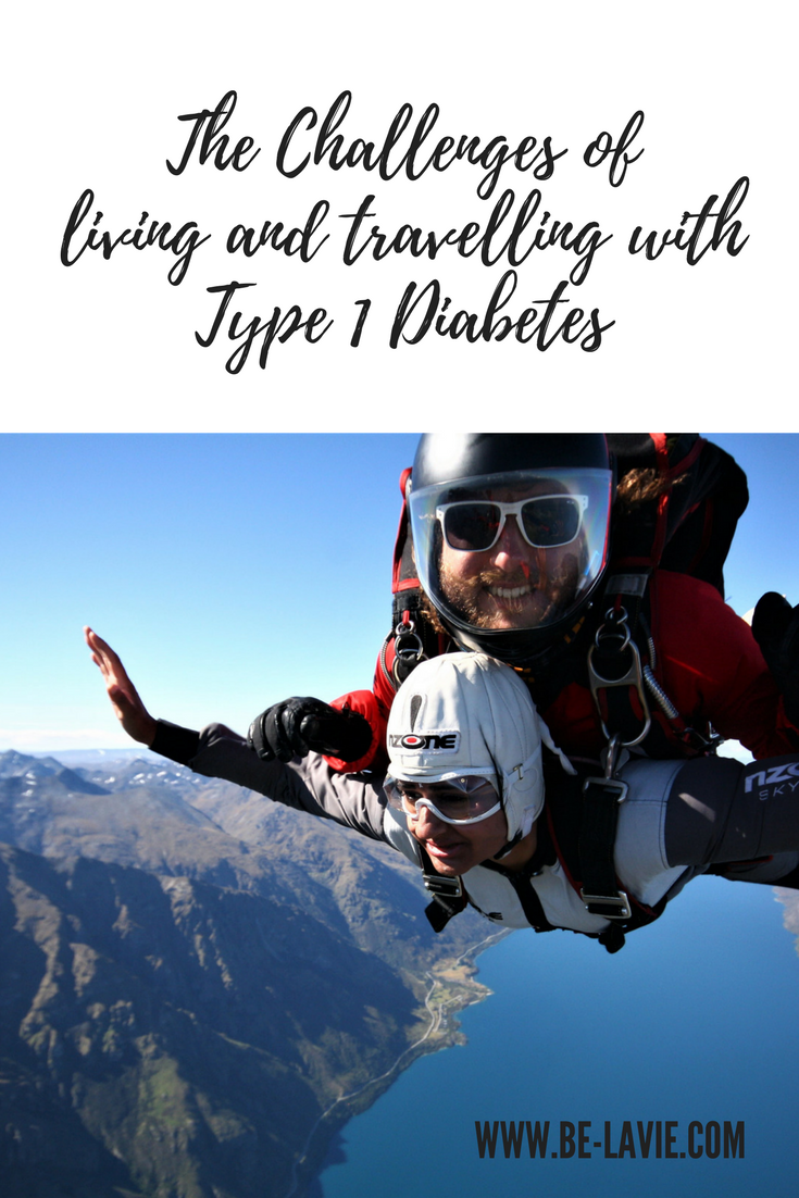 The Challenges of living and travelling with Type 1 Diabetes Pinterest Pin