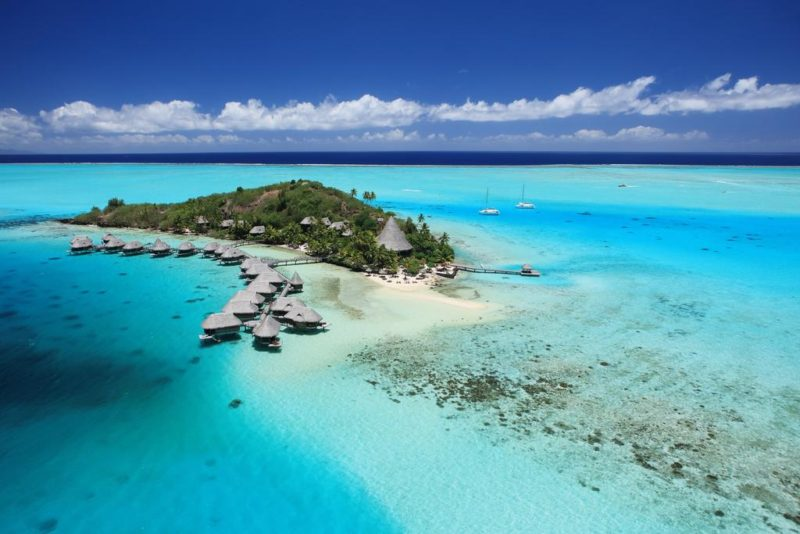 Sofitel Private Island view when flying in