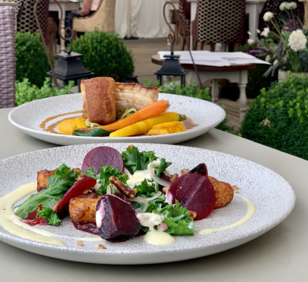Main dishes at Wiveton Bell: Dine in Norfolk