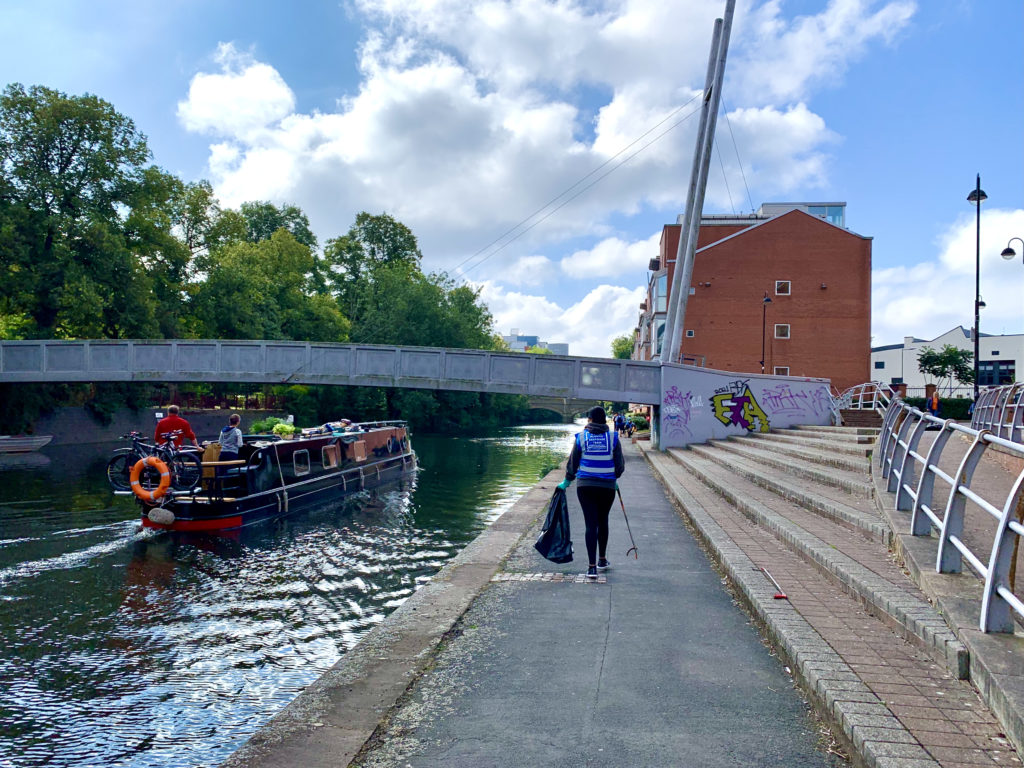 Cleaning the tow path