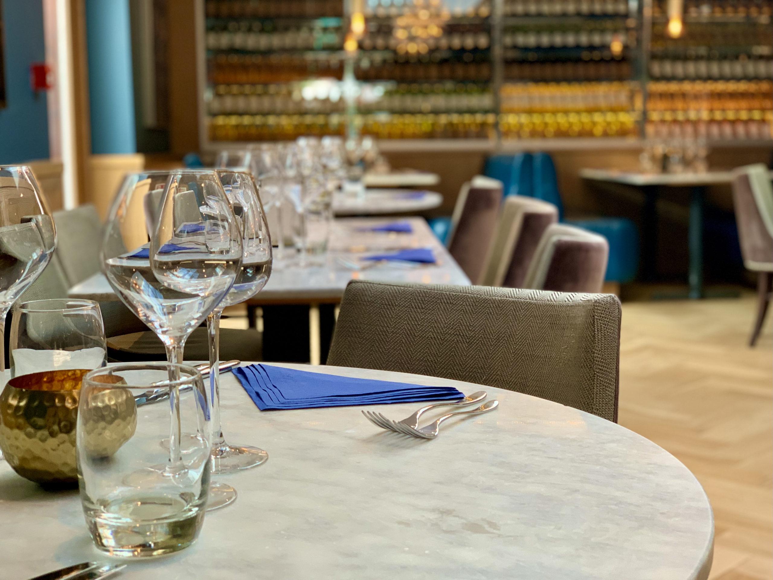 The Dovetail Restaurant settings